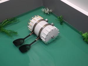 会津大学が開発した「アイガモロボット」