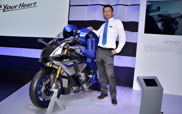 Yamaha Motor Ventures & Laboratory Silicon Valley Inc.のHiroshi Saijou 氏とMOTOBOT(東京モーターショー15)