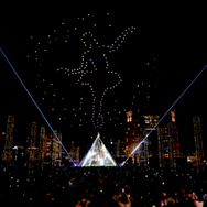 "FUTURE DRONE ENTERTAINMENT Intel(R) Drone Light Show ""CONTACT"""